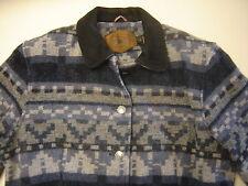 Woolrich Wool Suede Jacket Gray Blue Western Womans Medium Made in USA
