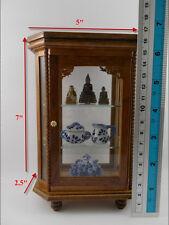 Small Vintage Cabinet Craft Teak Wood Handmade Carved Cupboard Furniture octagon