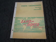 Land Rover 63-64 2 2A SPARE PARTS CATALOGUE   MANUAL  PETROL DIESEL