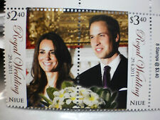 NIUE 2011 William and Kate Royal Wedding Se -tenant Sets of Mint Stamps