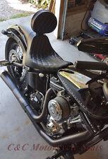 Harley-Davidson Softail Fastback W/Backrest C&C 2Up Seat, Harley Slim Lo & Sleek