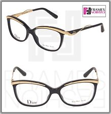 bc209f58852 CHRISTIAN DIOR CD3280 AUDACIEUSE Black Gold Square 53mm RX Optical  Eyeglasses
