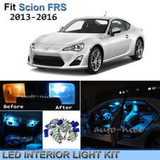4pcs Bright Ice Blue Interior LED Lights Package Kit For 2013-2016 Scion FRS