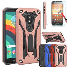 For Motorola Moto E5 Cruise/Play/GO Heavy Duty Case Stand Screen Protector Cover