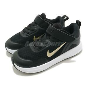 Nike WearAllDay TD Black Gold White Toddler Infant Baby Shoes Sneaker CJ3818-005