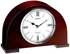 Seiko Branwen Analog Quartz Wooden Case Musical Mantel Clock QXW239BLH