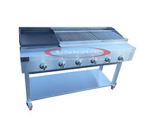 6 BURNER GAS CHARCOAL BBQ GRILL / CHAR-GRILL HEAVY DUTY FOR COMMERCIAL USE