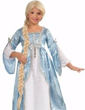 Rapunzel Braided Wig Child Girls Tangled Hair Disney Princess Long Braid Blonde