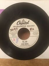 "DEAN MARTIN-RARE Original PROMO 45-""The Look"" & ""Give Me A Sign""-Capitol-1957-EX"