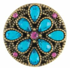 """Buy 4 Get One $6.95 Snap Free Ginger Snaps """"Lovely Antique Brass Zircon� Sn08-49"""