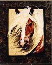 Mistral - raw edge applique horse wall quilt PATTERN - Toni Whitney