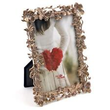 Gold Tone Flower & Butterfly Photo Frame 4 x 6 New Boxed  FS73946