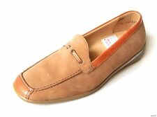 new $175 THERESIA M. Graham tan driving shoes FLATS Made in Germany UK 3 US 5.5