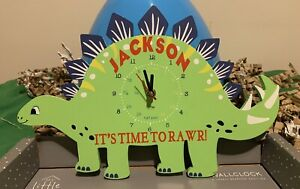 Unique Personalised Dinosaur Clock - Any Name