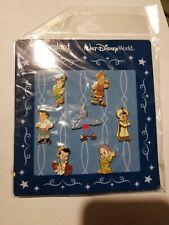 2009 Walt Disney World Disneyland Baby Pin Set Peter Pan Dopey Genie Aladdin