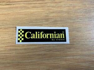 New Reproduced Vitaloni Californian Mirror Sticker - Excellent Quality