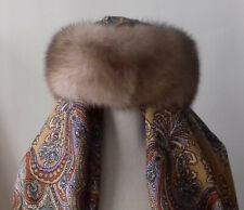 Genuine Sable Fur Headband Collar Scarf Winter Accessory