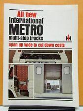 1965 International Harvester Metro Truck Multi Stop Sales Brochure