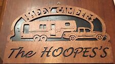 Personalized Wooden 5th Wheel Rv sign - Happy Campers (#100)