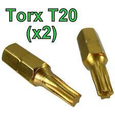 Torx T20 Screw driver Bit 2 pack long life titanium coated star TRX gold