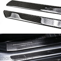 2x49cm Carbon Fiber Car Truck Scuff Plate Door Sill Cover Panel Step Protector