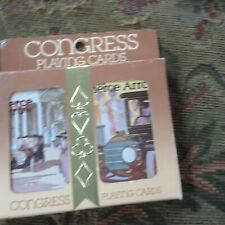 congress sailboat  Dual Deck Playing Swap Cards Vintage new sealed