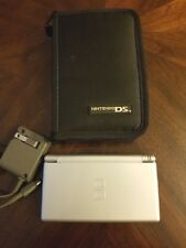 Nintendo DS Lite Silver With Case and Wall Charger Excellent Condition USED