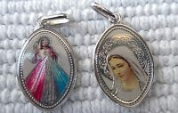 925 Madonna Sterling Silver Catholic pendant medal Our Lady Divine Jesus