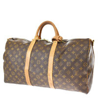 Authentic LOUIS VUITTON Keepall Bandouliere 50 Hand Bag Monogram M41416 89MG667