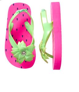 Gymboree Spring Vacation Strawberry Flip Flops Sandals Toddler Girl Size 7 - 8