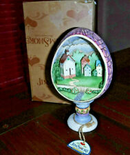 Jim Shores 2006 Egg Church Diorma Small Town Big Blessings Heartwood Creek New