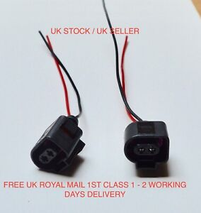 2x Scania P & R Series Sunvisor LED Marker Lamp Wiring Loom Connector ONLY