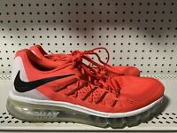 Nike Air Max 2015 Mens Athletic Running Shoes Size 10 Bright Crimson Red Black