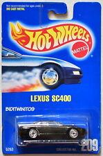 HOT WHEELS 1991 BLUE CARD LEXUS SC400 BLACK MIB