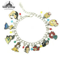 Disney Princess (10 Themed Charms) Assorted Metal Charm Bracelet