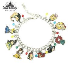 Disney Princess (10 Themed Charms) Assorted Metal Charm Bracelet