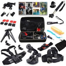 15 in1 Accessories Kit with Bag for Gopro Hero 4 Session Hero+ LCD 3+ 3 2 SJ4000