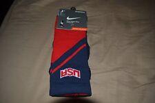 NIKE MEN'S SZ L (8-12) Hyper Elite USA Crew BASKETBALL DRI-FIT Socks SX4954 626