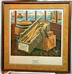 The first shipment Golf Clubs to America 1990 Golf Expo Artist C. Ezell-Gilson
