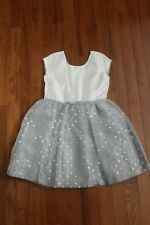 NWT Gymboree Dressed Up by Gymboree Holiday Ivory/Silver Tulle Dot Dress Sz 6