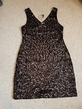 GORGEOUS little black sequinned dress. size 14 BNWT Apricot New Look. Party