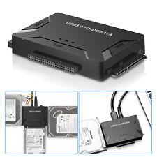 "USB 3.0 to 2.5"" 3.5"" SATA IDE Hard Drive Adapter Converter Backup + Power Supply"
