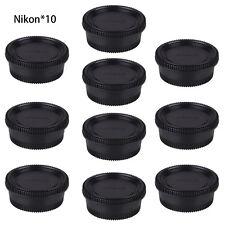 10pcs Body Front Cap + Rear Lens Cover for Nikon DSLR SLR AI AF Digital Camera
