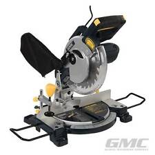 HEAVY DUTY GMC 1200W 210MM LASER SLIDING COMPOUND MITRE CUTTING SAW LED LIGHT