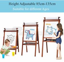 Childrens Kids Foldable Wood Easel Art Painting Magnetic Chalk Board White Board