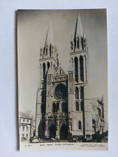 Truro Cathedral Vintage B&W Postcard c1930s West Front & Period Cars