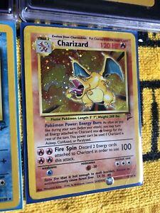 2000 Charizard 4/130 Base Set 2 Rare Holo Rare Pokemon Card DMG