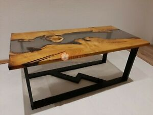 Beautiful maple river dinning table, resin table epoxy table, custom, table Tops