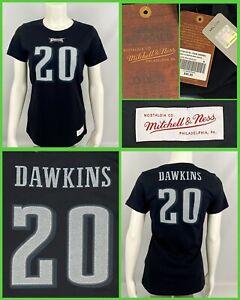 Women's BRIAN DAWKINS Philadelphia Eagles Mitchell & Ness Jersey Style Tee-Shirt