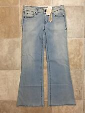 Level 99 Jeans Wide Leg Sz 27 in Light Blue (32x33)